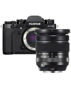 Fujifilm X-T3  Zwart/ XF16-80mm F4 R OIS WR Kit