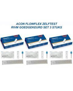 ACON FLOWFLEX ZELFTEST – RIVM GOEDGEKEURD  Set 3 stuks