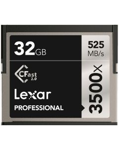 Lexar CFast 2.0 Professional 3500x 32GB