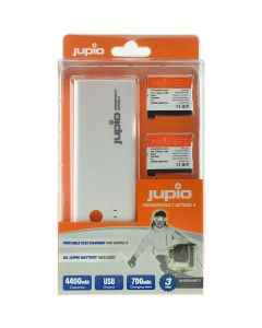 Jupio PowerVault Action GoPro HERO4 + 2x AHDBT-401 1160 mAh