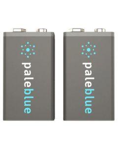 Pale Blue Li-Ion Rechargeable 9V Battery